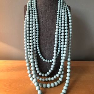 Jewelry - Pale green multi tier beaded necklace